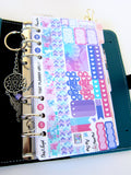 Hydrangea Jewel PERSONAL SIZE sticker kit - Mini Stickers to fit a Personal Size Kikki K or Kate Spade Planner - Pretty + Functional