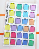 Post It Mini Stickers - Sticky Note Stickers - Perfect for the Erin Condren EC, Plum Paper Planner PPP, Kate spade or personal size planner!