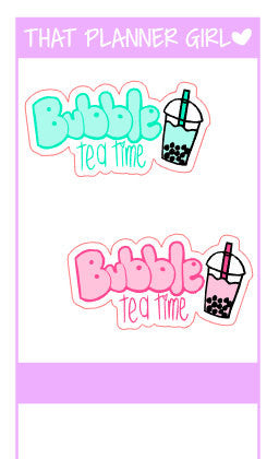 Bubble Tea Cups and words