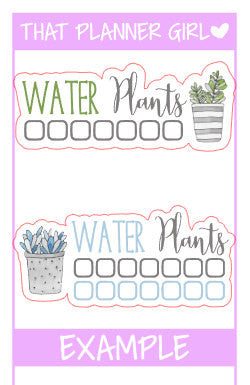 EC sized Water Plants Check List / Tracker Stickers