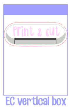 Large Print and cut cameo / portrait style stickers! Perfect for marking sticker making or print and cut days! Fit within EC vertical boxes