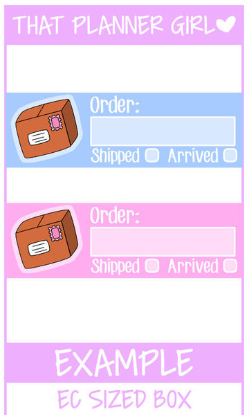 Order Tracker Stickers