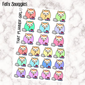 Felix Snuggles / Cuddles / Winter Day Stickers