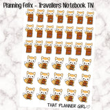 Felix Planning Travellers Notebook TN Planner Stickers - Perfect for planning time or buying a new TN! - Hand Drawn Original Artwork