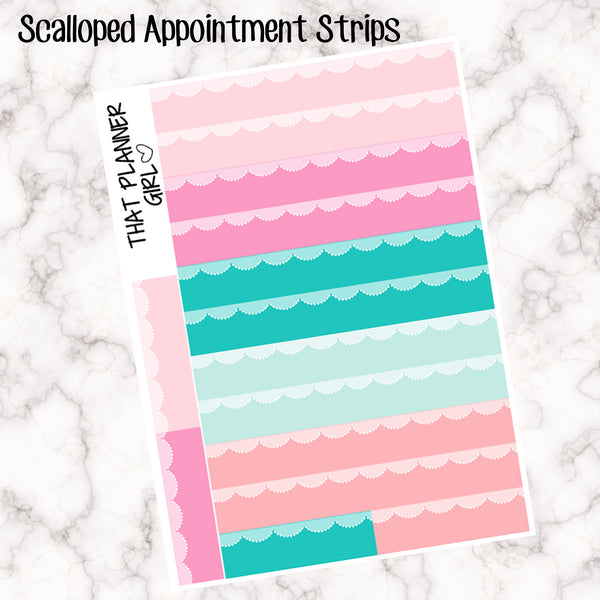 Scalloped Appointment Strip Stickers