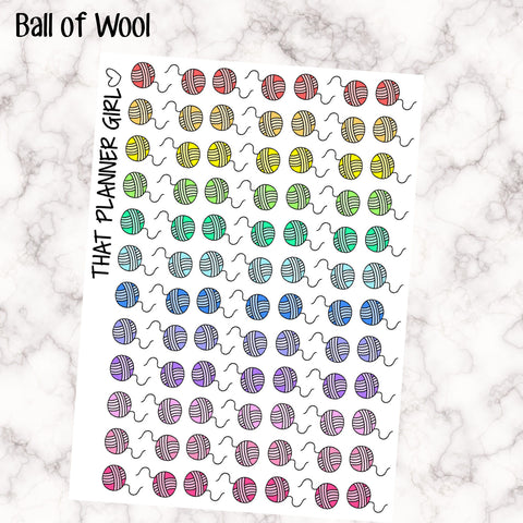 Ball of String - Cat Icons - cute cat markers - Perfect for the Erin Condren Life Vertical or personal planner - Pastel Rainbow