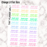 Change Litter Box Kawaii - Perfect for the Erin Condren Life Vertical or personal planner - Pastel Rainbow - 30 Stickers