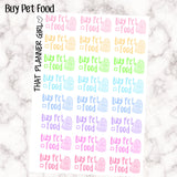 Buy Pet Food - Kawaii style - perfect for cats, dogs, rabbits, iguanas - Perfect for the Erin Condren Life Vertical or personal planner