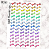Bone Icon - Dog Icons - cute dog markers - Perfect for the Erin Condren Life Vertical or personal planner - Pastel Rainbow