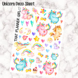 Unicorn Watercolor Decorative Clipart - Super cute and pretty! Matches perfectly with my watercolor unicorn weekly kit! 44