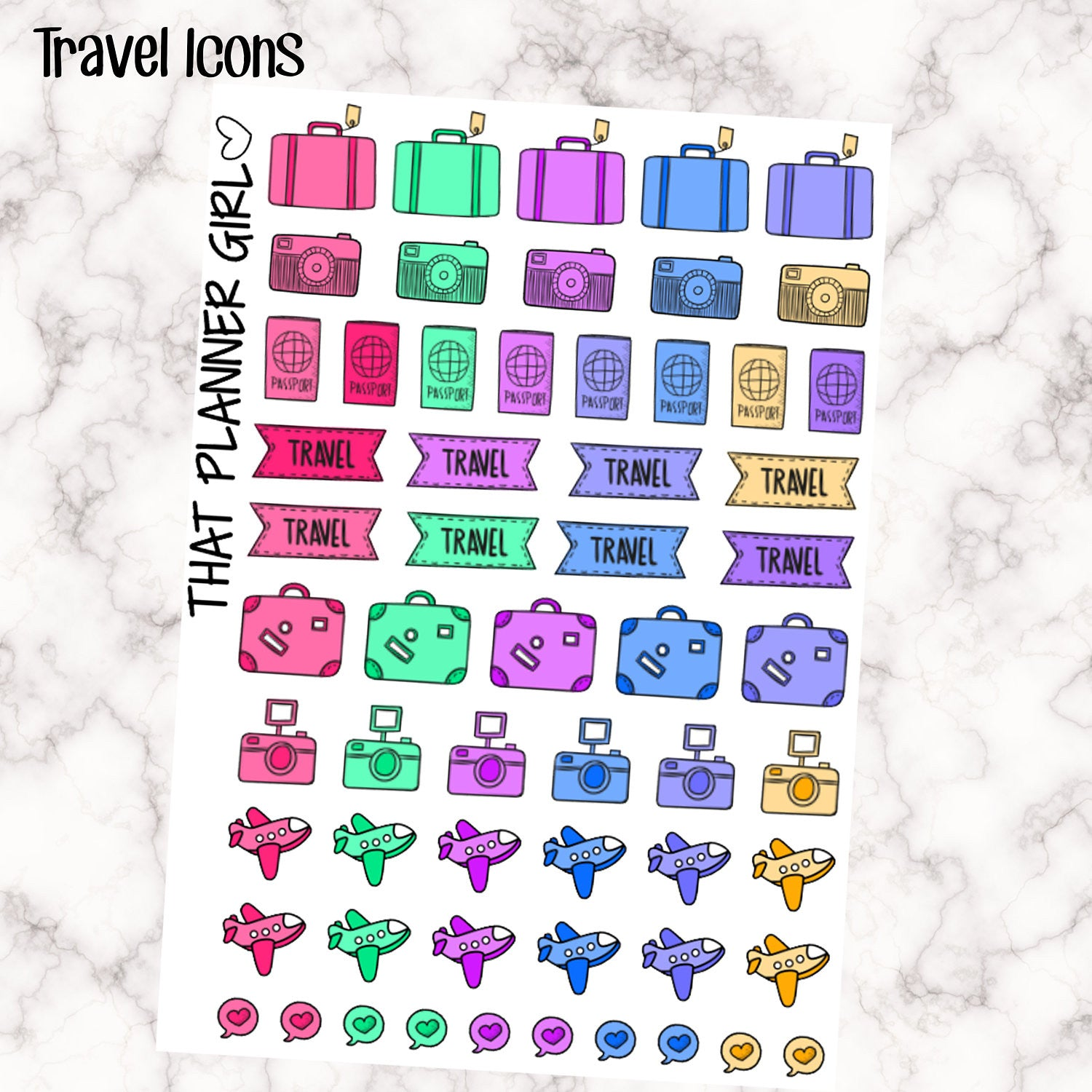 Cute travel / planes / luggage stickers