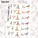 36 Yoga Stickers - individually cut and perfect for the Erin Condren EC or Plum Paper Planner PPP - 5 colours - mark yoga or exercise days