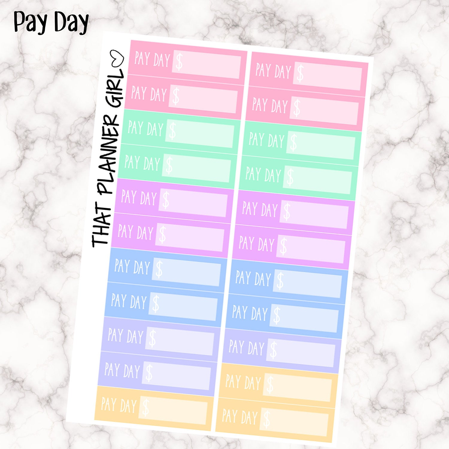 Pay Day Stickers