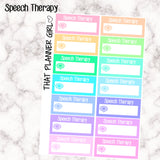 Speech Therapy Appointment Labels