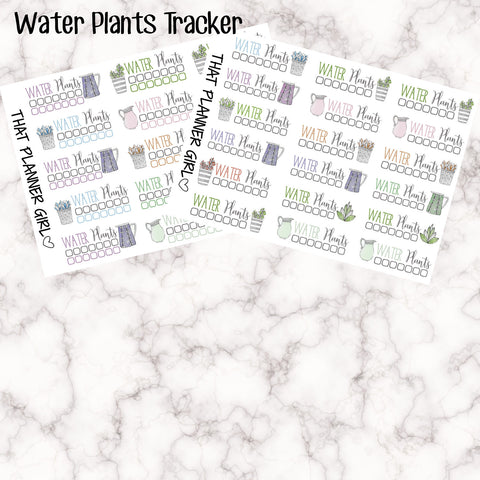 EC sized Water Plants Check List / Tracker stickers - Remember to water the garden with these cute functional EC sized stickers