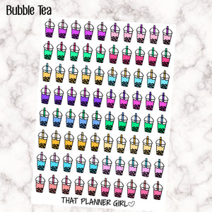Mini Bubble Tea Cup Stickers