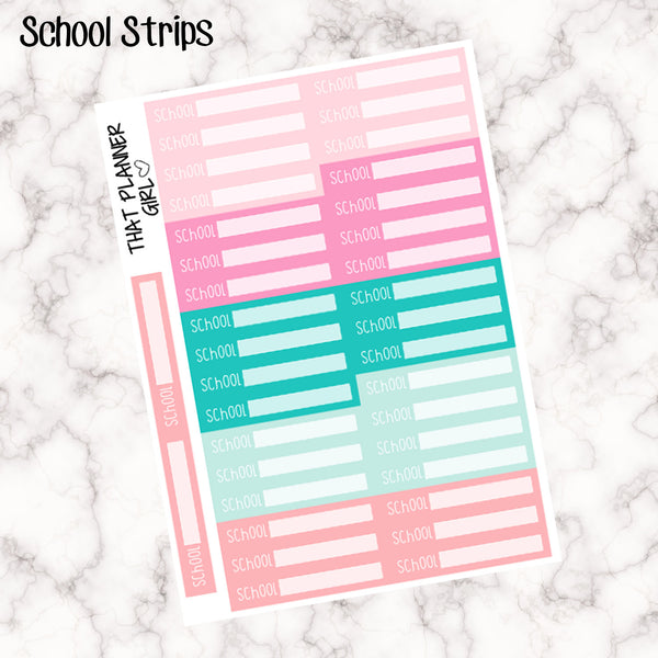 School Strip Stickers