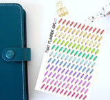 Tiny Pencil Icons - Cute and perfect for marking lessons / study / uni / tafe/ design / assignments - Erin Condren EC / kikki K etc