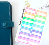 Physiotherapy Appointment Labels - Perfect for the Erin Condren Life Vertical or personal planner - Pastel Rainbow - 14 Stickers