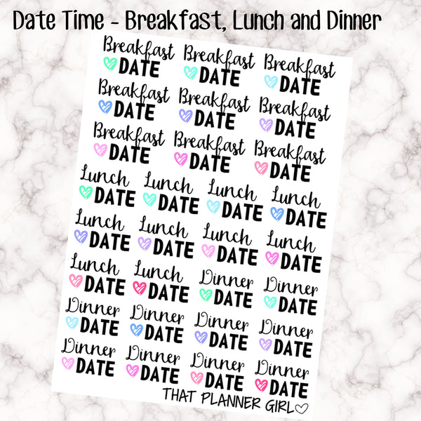 Date Day Stickers