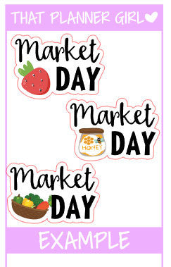 Market Day Stickers
