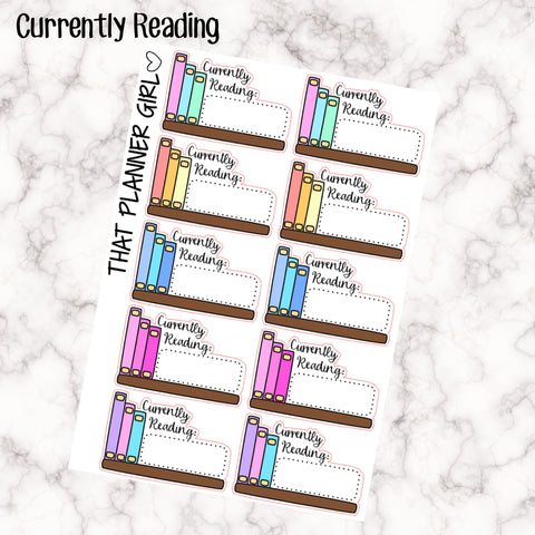Currently Reading - Cute and perfect for marking books read or tracking your reading!! - Erin Condren EC / kikki K / PPP planner - cute
