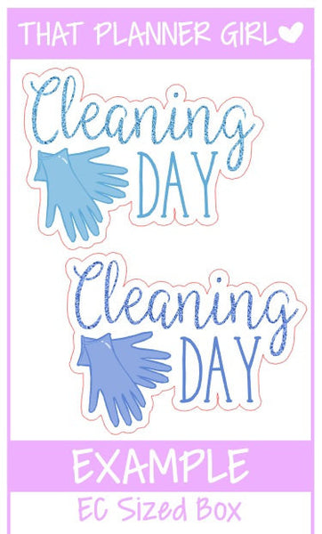 Cleaning Day Stickers