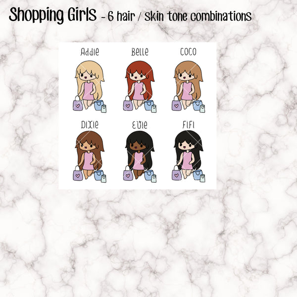 Shopping Trip Kawaii Girl Stickers