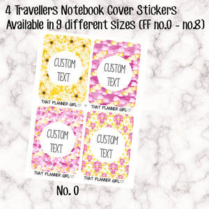 4 x Traveler's Notebook Sticker Covers - Pink Balloons