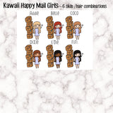 Happy Mail Kawaii Girl Stickers