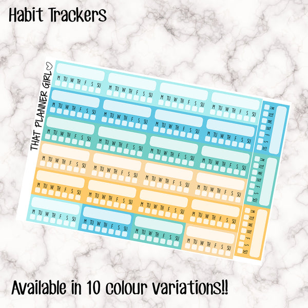 Habit Tracker Stickers