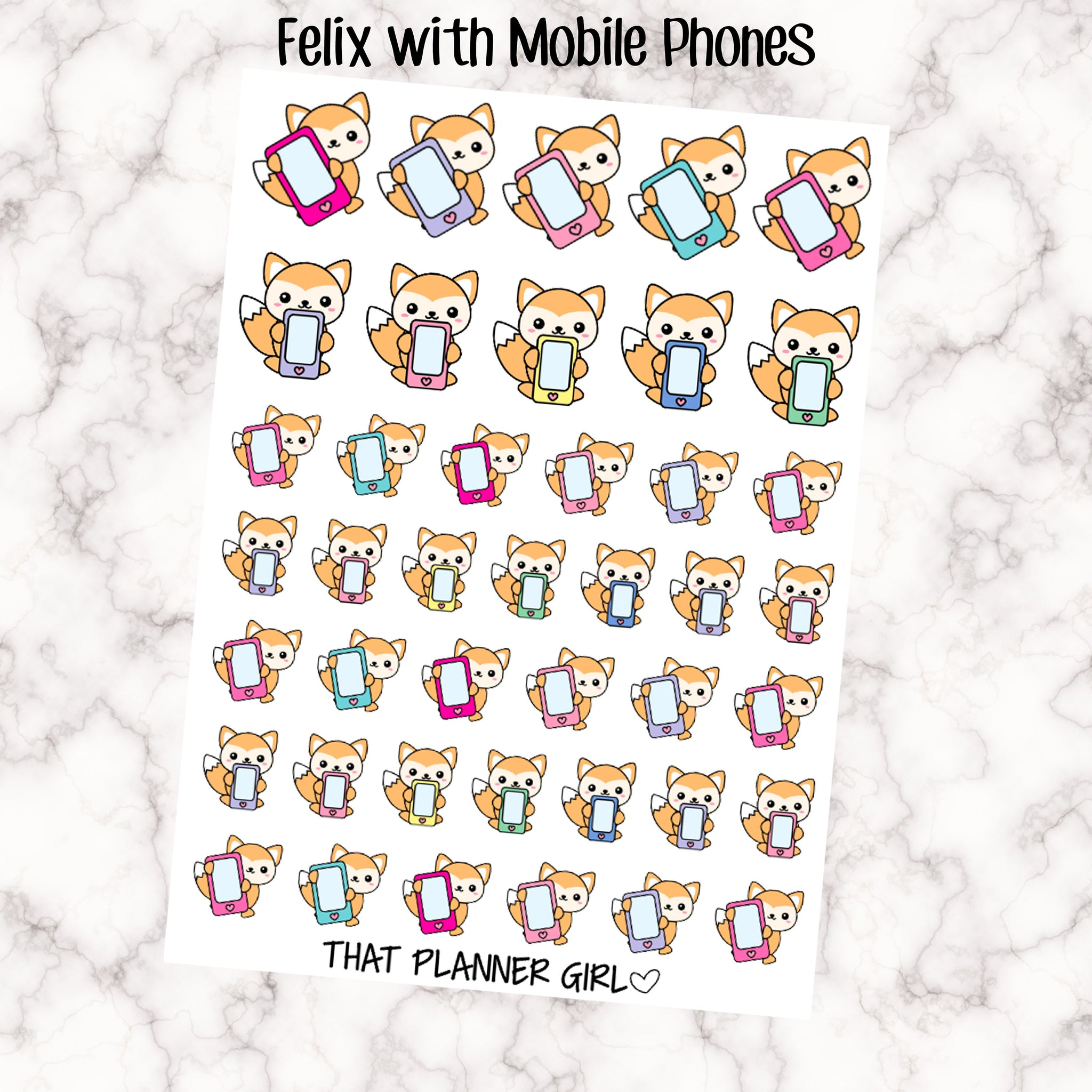 Felix with Mobile Phones Stickers