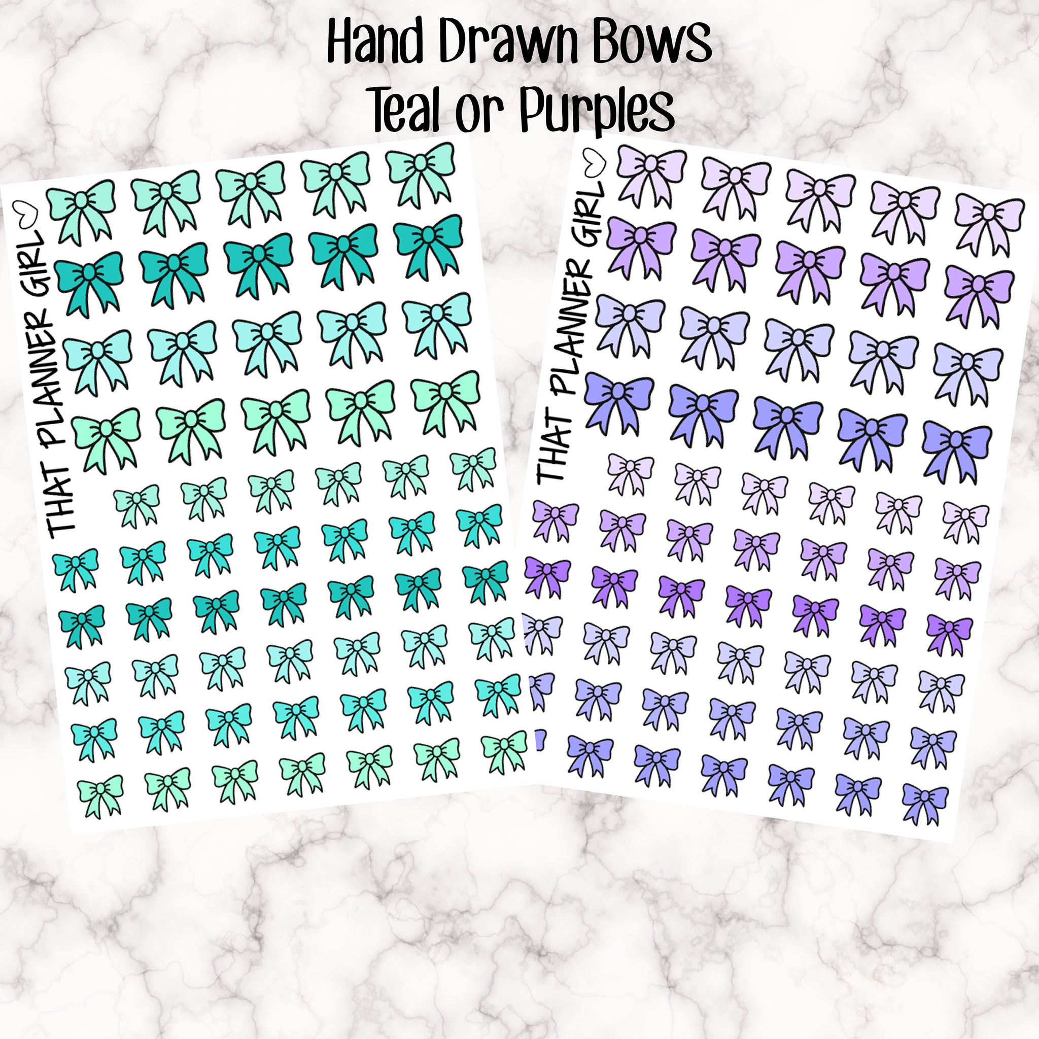 Bow Icons - Teal / Purple