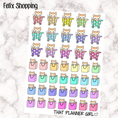 Felix Shopping Planner Stickers