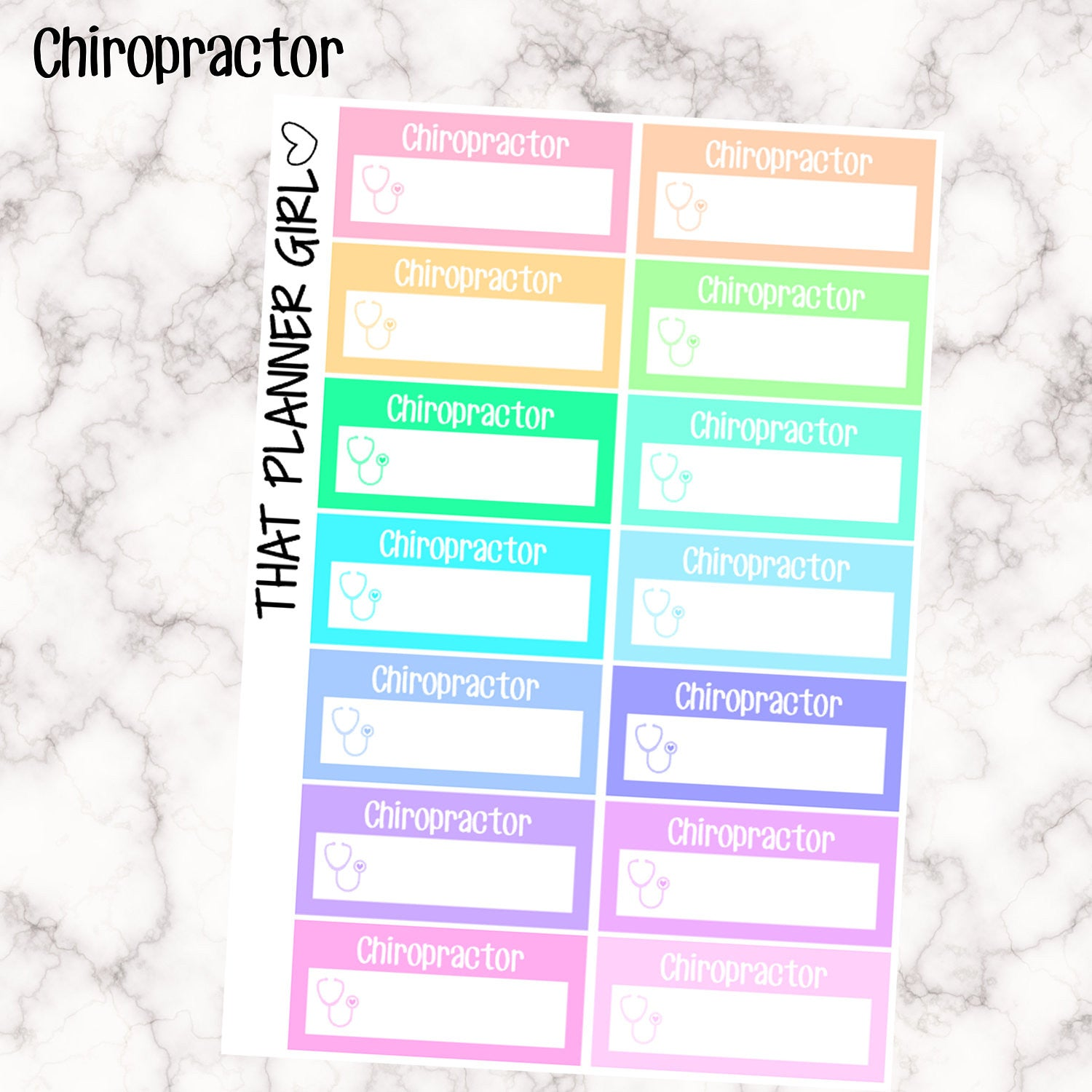 Chiropractor Appointment Labels