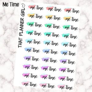 Me Time word stickers