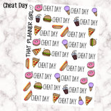 Cheat Day - Meal Stickers - Junk Foods - Perfect for the Erin Condren EC + Plum Paper Planner PPP - 31 Individual Stickers
