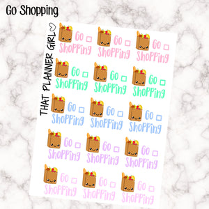 Go Shopping Stickers