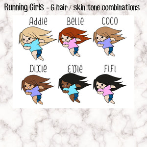 Running Girl Stickers