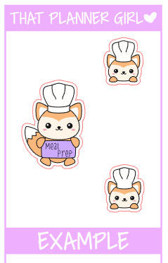 Felix Meal Prep / Meal Planning Stickers