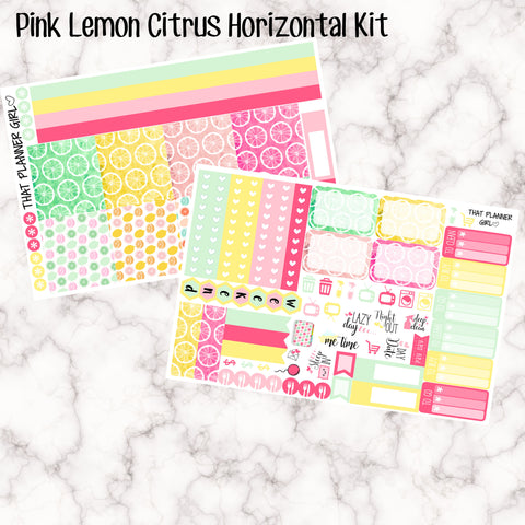 Pink Lemon Citrus - HORIZONTAL kit