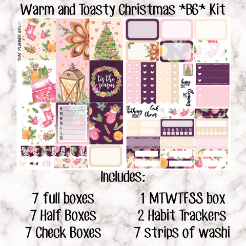Warm and Toasty Christmas - B6 Weekly Kit