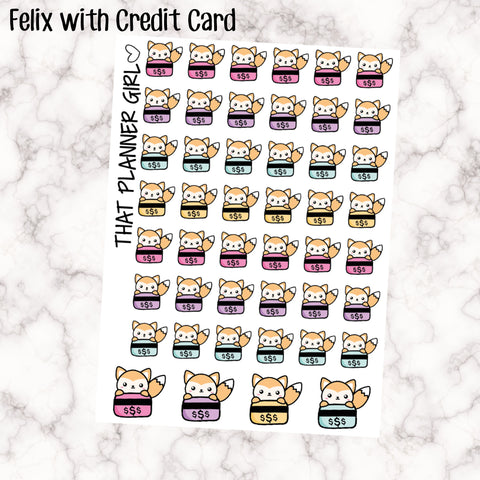 Credit Card Felix Stickers