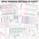 Winter Wonderland Christmas Full Kit - VERTICAL weekly kit - Individual sheets available or full kit!! Erin Condren Style Planner Stickers
