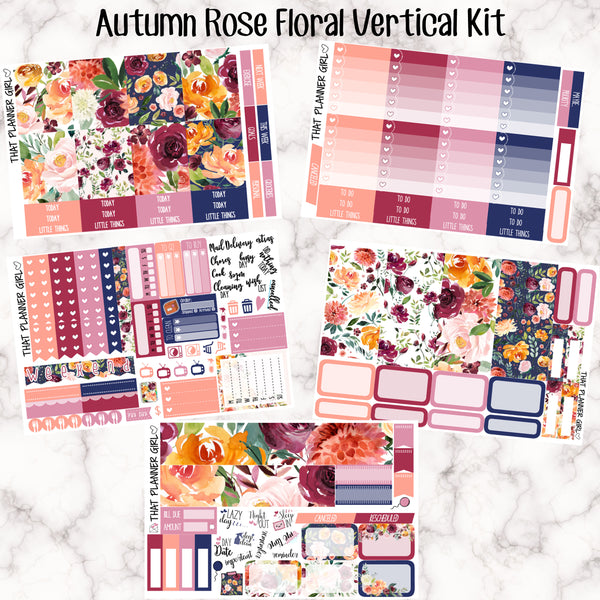 Autumn Rose/Fall Floral Full Kit - VERTICAL weekly kit