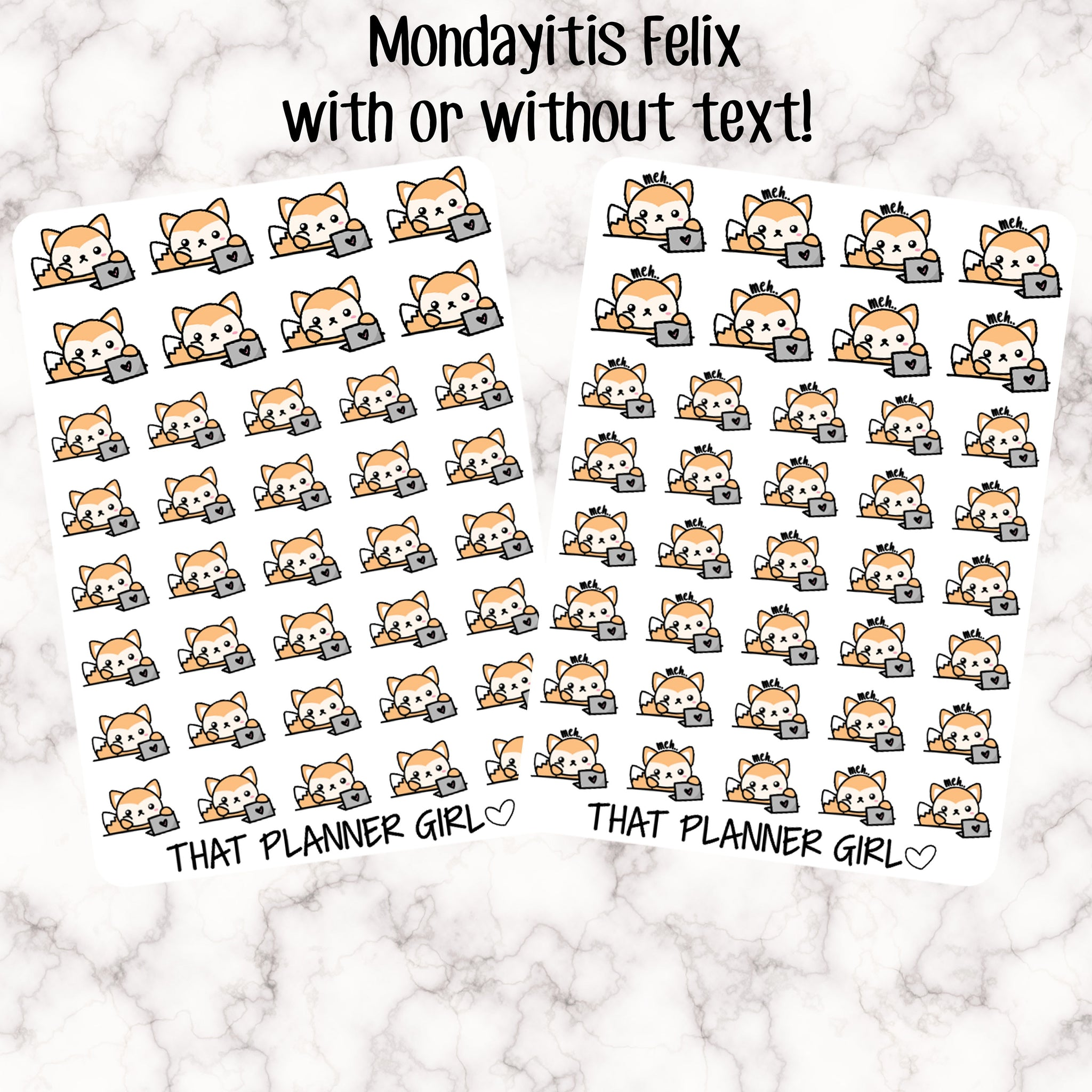 Mondayitis Felix Stickers - With or without text