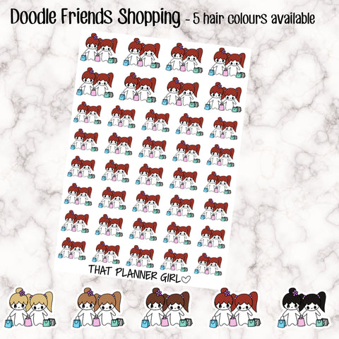 Friends/Mum-Daughter Shopping Stickers