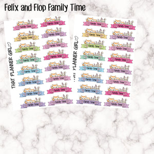 Felix and Flop Family Time Stickers