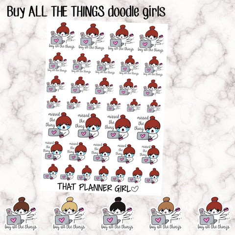 Buy All The Things Doodle