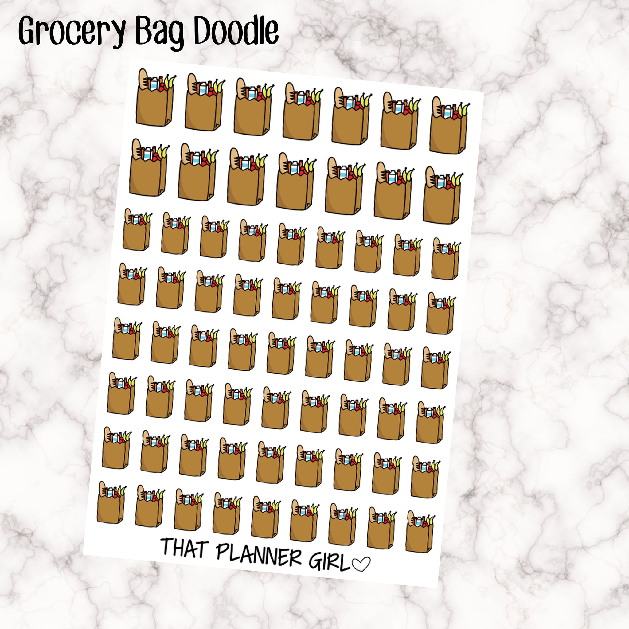 Grocery Bags Stickers